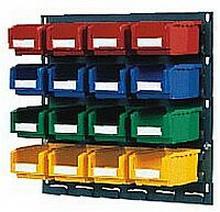 Bin Storage - Wall mounted bin storage with louvre panels for sale  sc 1 st  Metmeister & Bin Storage - Wall mounted bin storage with louvre panels