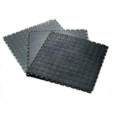 Plastic Floor Tiles Black Recycled Material(PVC FLOORING)   General  Products For Sale